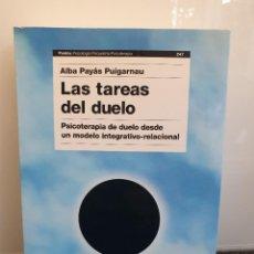 Livros em segunda mão: LAS TAREAS DEL DUELO. PSICOTERAPIA DE DUELO DESDE UN MODELO INTEGRATIVO-RELACIONAL (ENVÍO 4,31€). Lote 243587440