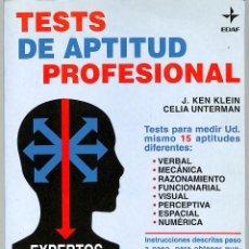 Libros de segunda mano: TESTS DE APTITUD PROFESIONAL EXPERTOS LE ACONSEJAN CÓMO ELEGIR LA PROFESIÓN. Lote 244466005