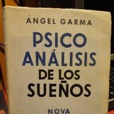 Libros de segunda mano: PSICOANALISIS DE LOS SUEÑOS 3ª AMPLIADA. Lote 244818000