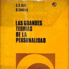 Libros de segunda mano: LAS GRANDES TEORIAS DE LA PERSONALIDAD. Lote 245447545