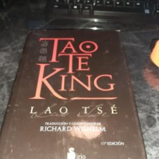 Libros de segunda mano: TAO TE KING. LAO TSE. EDICION DE 2012.. Lote 246657710