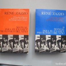 Libros de segunda mano: MANUAL PARA EL EXAMEN PSICOLÓGICO DEL NIÑO.- ( 2 VOLS,).- RENÉ ZAZZO.- EDITORIAL FUNDAMENTOS. 1971. Lote 254488640