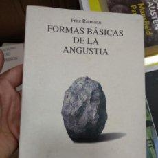 Libros de segunda mano: FORMAS BASICAS DE LA ANGUSTIA. FRITZ RIEMAMN. BIBLIOTECA DE PSICOLOGIA. EDITORIAL HERDER. Lote 254807850