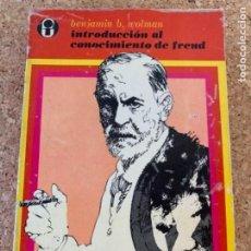 Libros de segunda mano: INTRODUCCIÓN AL CONOCIMIENTO DE FREUD (BOLS,5). Lote 255512570