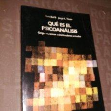 Libros de segunda mano: QUÉ ES EL PSICOANÁLISIS - PERE BOFILL, JORGE L. TIZÓN. Lote 256072135