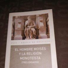 Libros de segunda mano: SIGMUND FREUD, EL HOMBRE MOISES Y LA RELIGIÓN MONOTEÍSTA, TRES ENSAYOS. Lote 260770405