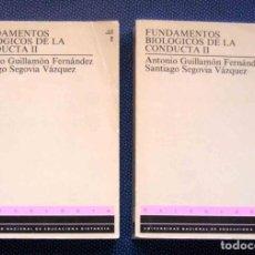 Libros de segunda mano: FUNDAMENTOS BIOLÓGICOS DE LA CONDUCTA II. 2 TOMOS.. Lote 261628755