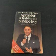 Libros de segunda mano: APRENDER A HABLAR EN PUBLICO HOY. Lote 261635310