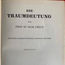 Libros de segunda mano: FREUD. TRAUMDEUTUNG - FREUD SIGMUND. Lote 262275850