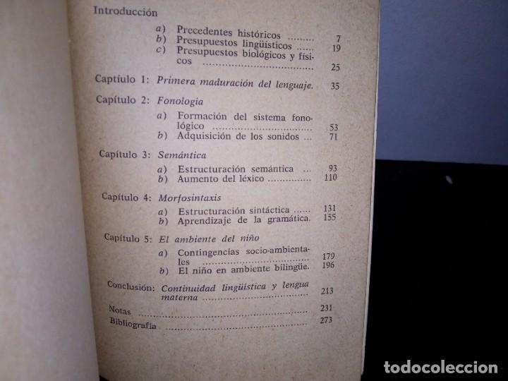Libros de segunda mano: 7- El lenguaje infantil - Giuseppe Francescato - Foto 3 - 263219275