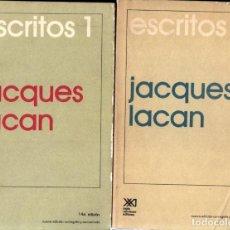 Libros de segunda mano: JACQUES LACAN ; ESCRITOS . DOS TOMOS (SIGLO VEINTIUNO, 1987-88). Lote 264497289