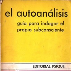 Libros de segunda mano: HORNEY : EL AUTOANÁLISIS -GUÍA PARA INDAGAR EN EL PROPIO SUBCONSCIENTE (PSIQUE. 1981). Lote 264501814