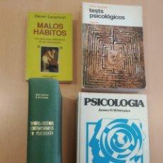 Libros de segunda mano: LOTE 4 LIBROS PSICOLOGÍA LEVENKRON, ANASTASI, WOLMAN Y WHITTAKER. USADOS. BUEN ESTADO. Lote 264528824