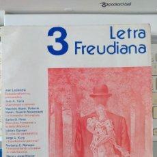 Libros de segunda mano: FREUD, REVISTA LETRA FREUDIANA, NUMERO 3. 157 PAGINAS. VARIOS AUTORES. 1980. Lote 267621194