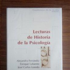 Libros de segunda mano: LECTURAS DE HISTORIA DE LA PSICOLOGIA. - FERRANDIZ, ALEJANDRA; LAFUENTE, ENRIQUE; LOREDO, JOSÉ CARLO. Lote 269370438