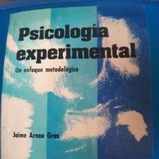Libros de segunda mano: PSICOLOGIA EXPERIMENTAL J. ARNAU. Lote 269939648