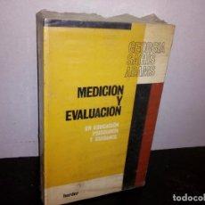Libros de segunda mano: 37- MEDICIÓN Y EVALUACIÓN EN EDUCACIÓN, PSICOLOGÍA Y GUIDANCE - GEORGIA SACHS ADAMS. Lote 271693833