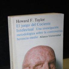 Libros de segunda mano: EL JUEGO DEL COCIENTE INTELECTUAL. UNA INVESTIGACIÓN METODOLÓGICA SOBRE LA CONTROVERSIA. Lote 277130738