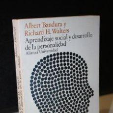 Libros de segunda mano: APRENDIZAJE SOCIAL Y DESARROLLO DE LA PERSONALIDAD.- BANDURA, ALBERT. ; WALTERS, RICHARD H.. Lote 277133313