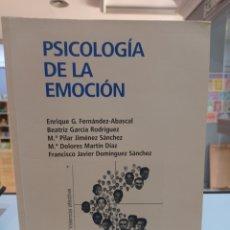 Libros de segunda mano: PSICOLOGÍA DE LA EMOCIÓN. VVAA. UNED. Lote 277589093