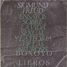 Libros de segunda mano: FREUD, SIGMUND. ENSAYOS SOBRE LA VIDA SEXUAL Y LA TEORÍA DE LAS NEUROSIS. ALIANZA EDITORIAL. Lote 257975380
