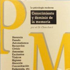 Libros de segunda mano: PAUL CHAUCHARD - CONOCIMIENTO Y DOMINIO DE LA MEMORIA. Lote 278398858