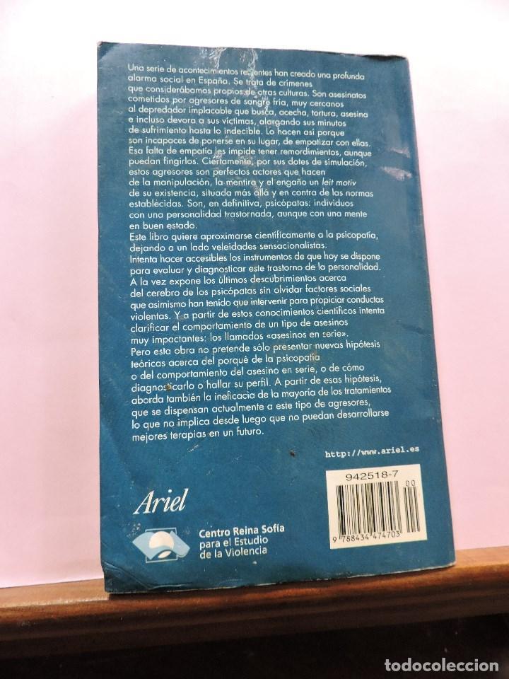 Libros de segunda mano: Violencia y psicopatía. RAINE, Adrián y SANMARTÍN, José. Ariel 4 1ª Ed. 2000 - Foto 3 - 287974593