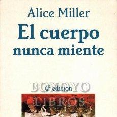 Libros de segunda mano: MILLER, ALICE. EL CUERPO NUNCA MIENTE. Lote 288172643