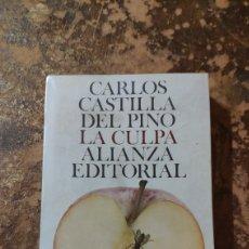 Libros de segunda mano: LA CULPA (CARLOS CASTILLA DEL PINO) (ALIANZA EDITORIAL). Lote 290146328