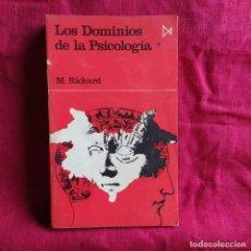 Libros de segunda mano: LOS DOMINIOS DE LA PSICOLOGÍA. TOMO 1 - RICHARD, M.. Lote 290147413