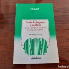 Libros de segunda mano: TEORÍA DE RESPUESTA A LOS ITEMS - NUEVO ENFOQUE - JOSÉ MUÑIZ FERNÁNDEZ - PIRÁMIDE. Lote 290888623