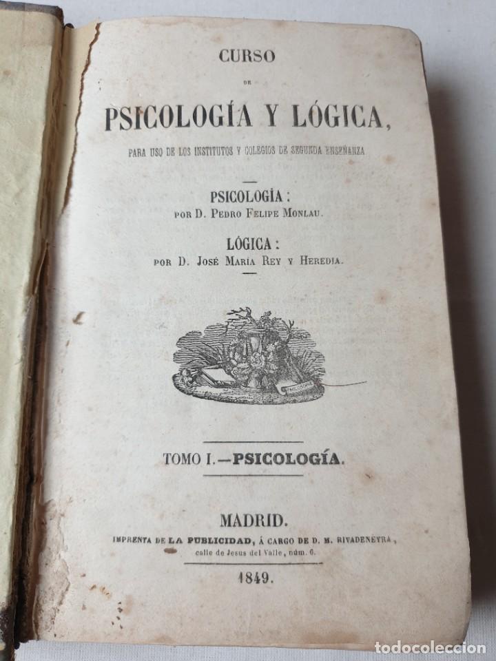 Libros de segunda mano: PSICOLOGIA Y LOGICA - Foto 2 - 293543618