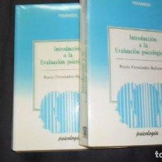 Libros de segunda mano: INTRODUCCIÓN A LA EVALUACIÓN PSICOLÓGICA (TOMOS I Y II), ROCÍO FERNÁNDEZ-BALLESTEROS, ED. PIRÁMIDE. Lote 295398563