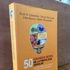 Libros de segunda mano: 50 GRANDES MITOS DE LA PSICOLOGIA POPULAR - V.V.A.A. - BIBLIOTECA BURIDAN - ESCASISIMO!!. Lote 295415823