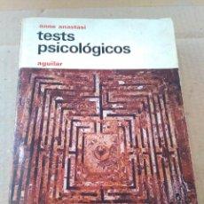 Libros de segunda mano: LIBRO ~ TESTS PSICOLOGICOS ~ ANNE ANASTASI ( AÑO 1974 ) AGUILAR. Lote 295450733