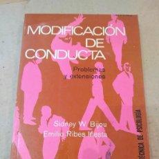 Libros de segunda mano: LIBRO ~ MODIFICACION DE CONDUCTA ~PROBLEMAS Y EXTENSIONES,BIBLIOTECA TECNICA DE PSICOLOGIA( AÑO 1977. Lote 295702063