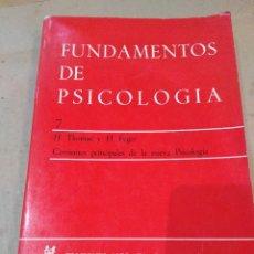 Libros de segunda mano: LIBRO ~ FUNDAMENTOS DE PSICOLOGIA ~ H. THOMAE Y H. FEGER ( AÑO 1971 ). Lote 295735258