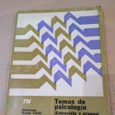 Libros de segunda mano: LIBRO ~ TEMAS DE PSICOLOGÍA ~ ENTREVISTA Y GRUPOS ( AÑO 1971 ). Lote 295736268