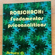 Libros de segunda mano: RORSCHACH, FUNDAMENTOS PSICOANALITICOS, ARTURO O. ALCAINE CAMON. Lote 296947513