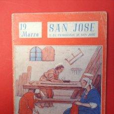 Libros de segunda mano: COLECCION NUESTROS SANTOS -SAN JOSE-1944. Lote 14887541