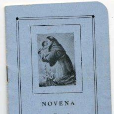 Libros de segunda mano: NOVENA EN HONOR DE SAN ANTONIO DE PADUA. VALLADOLID, CASA MARTIN. Lote 26034826