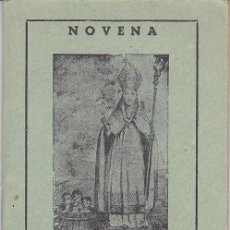 Libros de segunda mano: NOVENA A SAN NICOLAS DE BARI - IGLESIA DE LA SANTISIMA TRINIDAD DE SEGOVIA. Lote 27565890