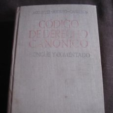 Libros de segunda mano: LIBROS - LIBRO CODIGO DE DERECHO CANONICO. Lote 25280164