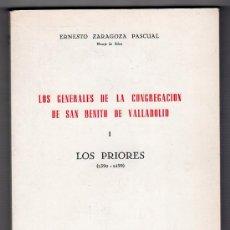 Libros de segunda mano: LOS GENERALES DE LA CONGREGACION DE SAN BENITO DE VALLADOLID. TOMO I Y TOMO II. 1973. 1976.. Lote 17439963