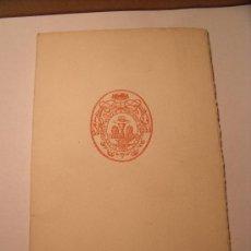Libros de segunda mano: CURIOSO Y RARO LIBRO DE LA ASOCIACIÓN DE AMIGOS DEL COLEGIO DEL PATRIARCA. VALENCIA. AÑO 1952 P-60. Lote 27059644