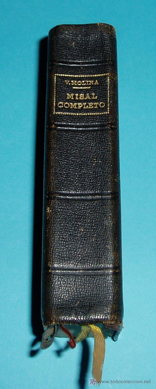 MISAL COMPLETO PARA LOS FIELES. V. MOLINA ( L06 ) (Libros de Segunda Mano - Religión)