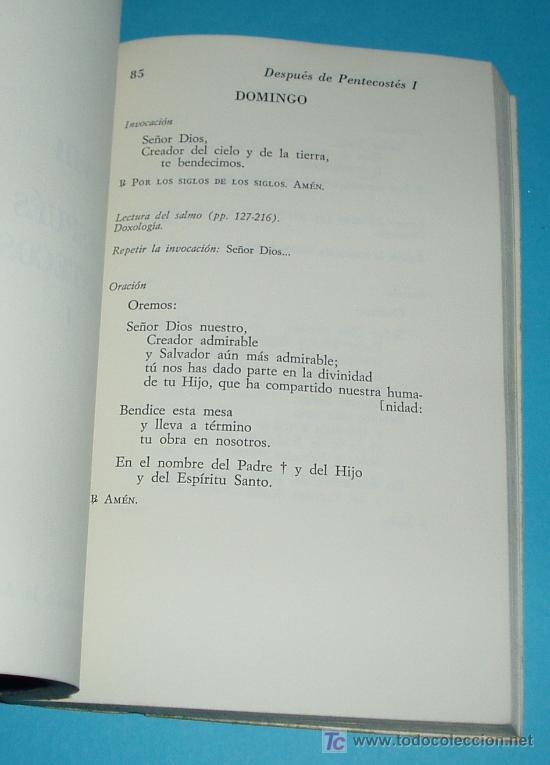 Libros de segunda mano: LIBRO DE LA MESA. PLEGARIAS PARA ANTES Y DESPUES DE LA COMIDA. M.D. BOUYER, O.P. - Foto 3 - 22801525