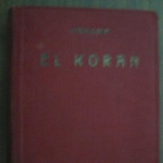 Libros de segunda mano: EL KORAN. MAHOMA. EDICIONES IBÉRICAS. Lote 19416507