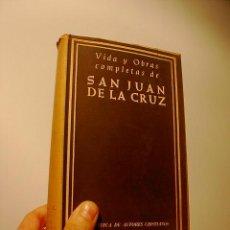 Libros de segunda mano: VIDA Y OBRAS COMPLETAS DE SAN JUAN DE LA CRUZ, BIBLIOTEC. AUTORES CRISTIANOS,MADRID, 1964. Lote 19967715