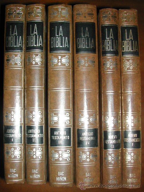 LA BIBLIA (6 VOLÚMENES) BAC MIÑÓN (1971) (Libros de Segunda Mano - Religión)